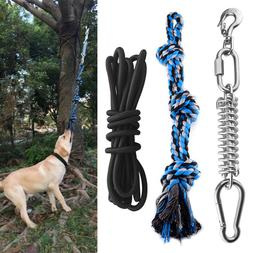 Spring Pole Dog Rope Toys with Stainless Steel Spring Pole S