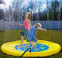 """Splashin'kids 68"""" Sprinkle and Splash Play Mat toy is for ch"""