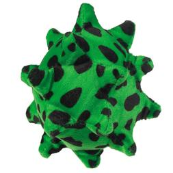 Squawking Nubby Ball Dog Toy - Color: Green Spotted