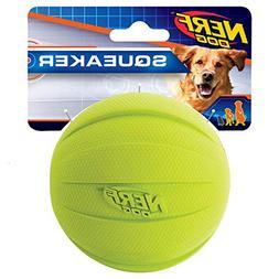 Nerf Dog Squeak Rubbber Ball Dog Toy, Medium/Large, Green