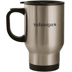 #squeaker - Stainless Steel 14oz Road Ready Travel Mug, Silv