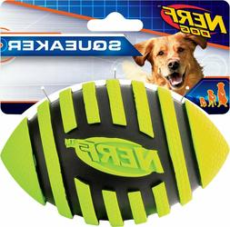 Nerf Dog Spiral Squeak Football - Green