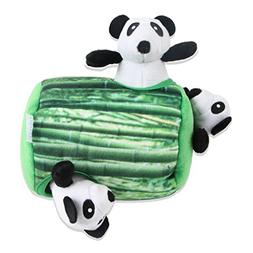 IFOYO Squeaky Dog Toys, Durable Panda Hide and Seek Puzzle P
