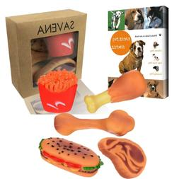 Savena Squeaky Dog Toys Pack -New Upgrade Made by Non-Toxic