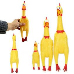 Squeeze Shrilling Screaming Rubber Chicken Pet Dog Bite Toy