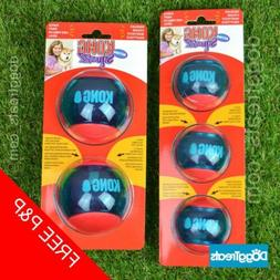 KONG Squeezz Action Ball Dog Toy - Squeaky Rubber Chase Play