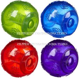 KONG SQUEEZZ BALL Med/Lg/XL Durable Squeaker Colorful Fetch