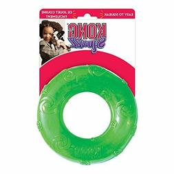 KONG Squeezz Ring Dog Toy, Large, Colors Vary Suitable for l