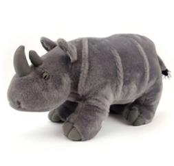 New Arrival 14 Inch Standing Rhino Plush Stuffed Animal by A