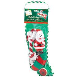 Pre-Stuffed 14 Inch Doggy Christmas Stocking - Model may var