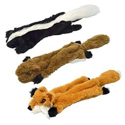 UOLIWO Stuffingless Dog Toys with Squeaker, Durable No Stuff