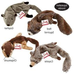 Stuffing Free Dog Toys, Chipmunk Coyote Gopher Red Squirrel