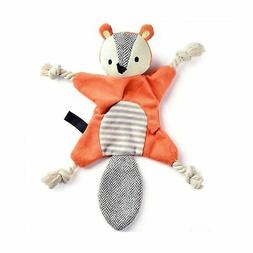 EETOYS Stuffless Dog Toys for Puppy, Crinkle Squeaky Dog Che