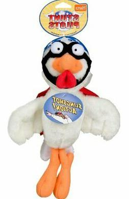 Hartz Stunt Pilots Plush Slingshot Chicken Dog Toy
