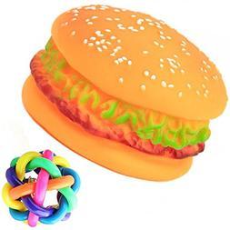 SIMPLEST LIFE Supplies Realistic Boss Hamburger Squeaky Soun