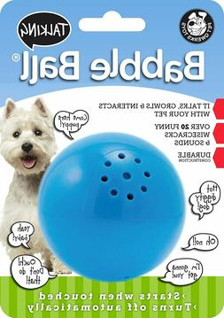 Pet Qwerks Talking Babble Ball Interactive Dog Toy Wisecrack