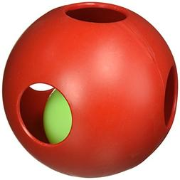 "Teaser Ball Size: 6.5"" H x 6"" W x 6.25"" D, Color Red"