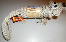 The Original Roopers Dog Rope Toy Chew Fetch Beige Total Toy