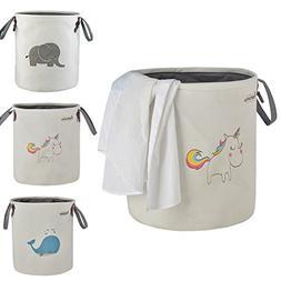 Toy Storage Basket, CAROEAS Unicorn Kids' Toy Organizer Wate