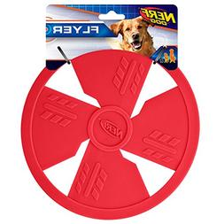 Nerf Dog TPR Float Flyer Flying Disc Dog Toy, Large, Red