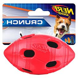 Nerf Dog Small to Medium TPR Red Crunch & Squeak Bash Footba
