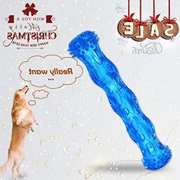 ZNOKA TPR Squeak Dog Chew Bone Toy, Bite Resistant Durable T