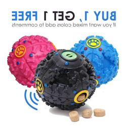Treat Dispensing Dog Toy Ball Food Dispenser Squeak IQ Smart