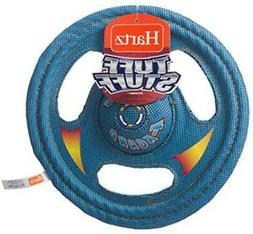 Hartz Tuff Stuff Toss Around Plush Frisbee Flyer Dog Toy - M
