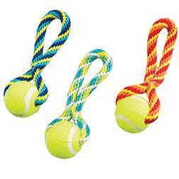 "Ethical Pets Tug Ball Handle Dog Toy, 7"", Assorted"