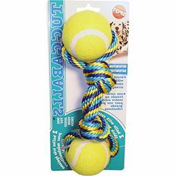 tug double tennis ball dog