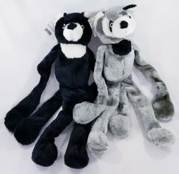 Tug-N-Squeak Buddy 4-Squeaker Raccoon Bear Plush dog toys to