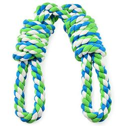 EETOYS Tug Rope for Large Dogs, Tug of War Dog Toy with 2 Ha