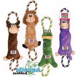 Kong Tugger Knots Small / Medium Squeak Tug Play Dog Puppy T