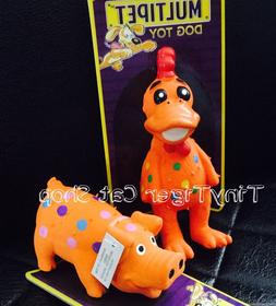 TWO Multipet Globken Globlet Dog Squeaker Chew Toy MINI chic