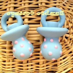 TWO Dog Pacifier Latex Squeaker Dog Puppy Toy  Assorted  New