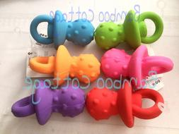 two pacifier latex squeaker dog puppy toy