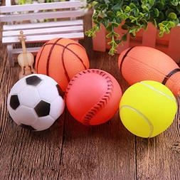 KMGNDJG Unbreakable And Durable Rubber Dog Toy Ball Squeakin