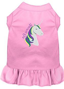 Mirage Pet Products Unicorns Rock Embroidered Dog Dress Ligh