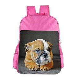 Unique English Bulldog Puppy Dog School Backpack Children Sh