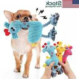 US Pet Dog Puppy Chicken Chew Toy Squeaker Squeaky Soft Plus