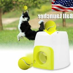 USA Automatic Pet Dog Launcher Tennis Ball Toy Interact Fetc