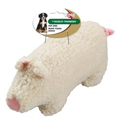 Ethical Pet Vermont Fleece Dog Toy, 6-Inch, Farmyard Animal,