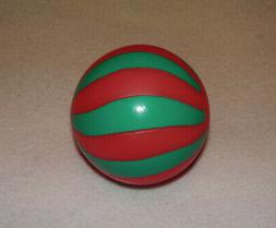HOLIDAY TIME * VINYL TOY * WITH SQUEAKER * GREEN/RED BALL* S