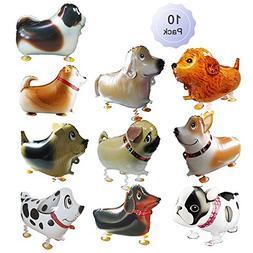 Walking Balloons Dog Animals Walking Balloon Set Kids Pet Do