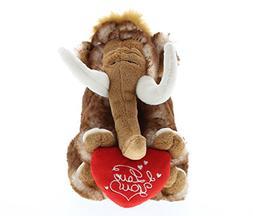 DolliBu Small Wild Mammoth I Love You Valentines Stuffed Ani