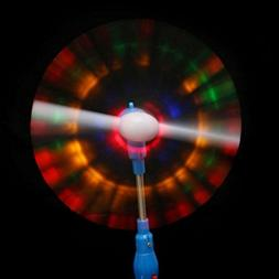 OVERMAL Windmills Flashing Light Up LED And Music Rainbow Sp
