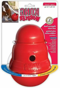 KONG Wobbler Food and Treat Dispenser Dog Toy Red