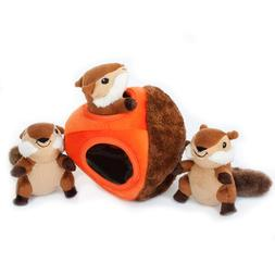 ZippyPaws - Woodland Friends Burrow, Interactive Squeaky Hid