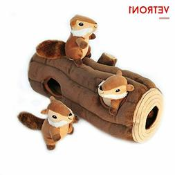 ZippyPaws Woodland Friends Burrow Squeaky Hide and Seek Plus