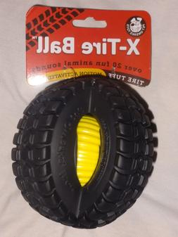 Pet Qwerks X-Tire Tuff Ball, Dog Toy, Over 20 Animal Sounds,
